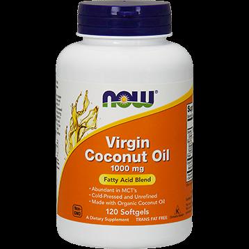 NOW Virgin Coconut Oil 1000 mg 120 softgels N1718