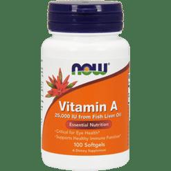 NOW Vitamin A 25000 IU 100 softgels N0340