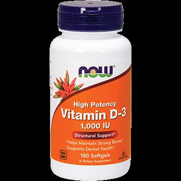NOW Vitamin D 3 1000 IU 180 softgels N0365