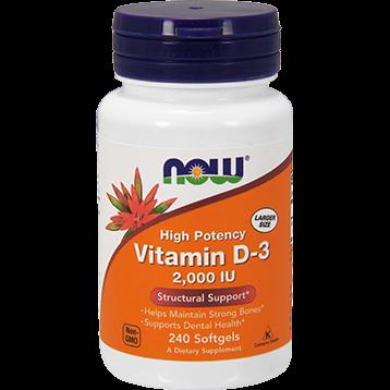 NOW Vitamin D 3 2000 IU 240 softgels N0377