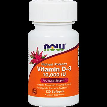 NOW Vitamin D3 10000 IU 120 gels N0376