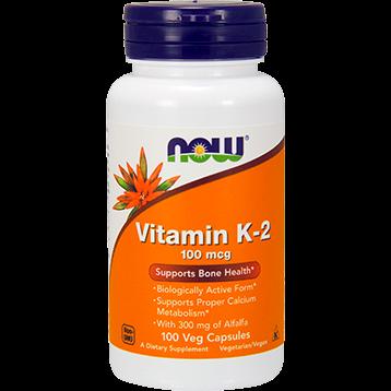 NOW Vitamin K 2 100 mcg 100 vcaps N0990