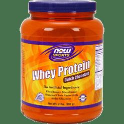 NOW Whey Protein Dutch Chocolate 2 lb N2180