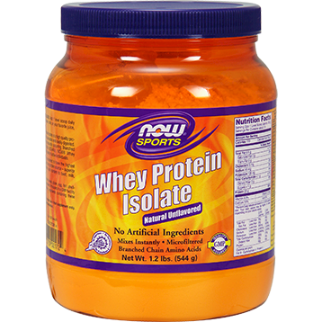 NOW Whey Protein Isolate Unflavored 1.2 lbs N2172