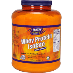 NOW Whey Protein Isolate Unflavored 5 lbs N2174