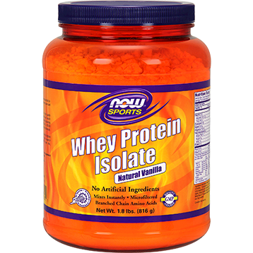 NOW Whey Protein Isolate Vanilla 1.8 lbs N2160