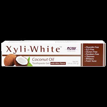 NOW XyliWhite Coconut Oil Toothpaste 6.4 oz N81025