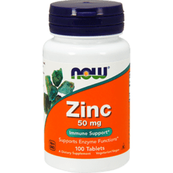 NOW Zinc 50 mg 100 tabs N15204