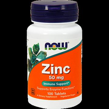 NOW Zinc 50 mg 100 tabs N15204