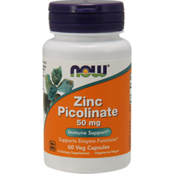 NOW Zinc Picolinate 50 mg 60 caps N15501