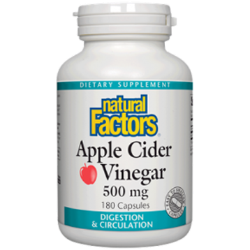 Natural Factors Apple Cider Vinegar 500 mg 180 caps NF0563
