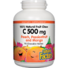 Natural Factors C500mg Peach Passionfruit Mango 90chew C500P