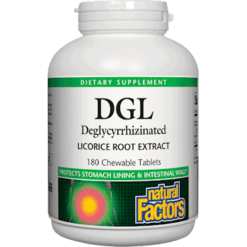 Natural Factors DGL 400 mg 101 Extract 180 tabs NF5078