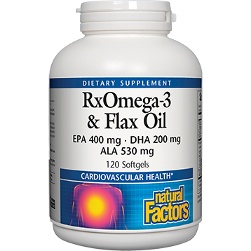 Natural Factors Fish amp Flax Oil RxOmega 3 120 gels ROMFF