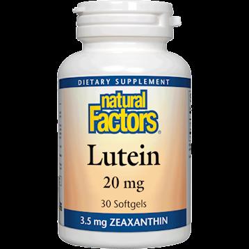 Natural Factors Lutein 20 mg 30 softgels NF0311