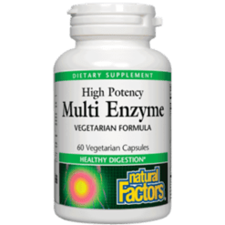 Natural Factors Multi Enzyme Vegetarian Form 60 vegcaps NF7457