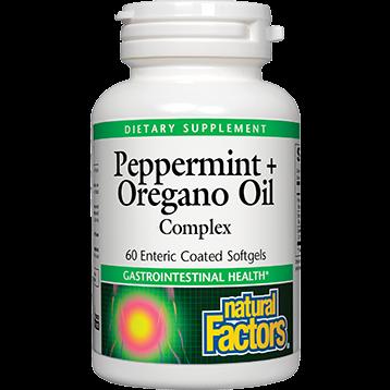 Natural Factors Peppermint amp Oregano Oil 60 gels PEP15