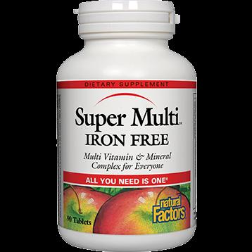 Natural Factors Super Multi Iron Free 90 tablets SUP82