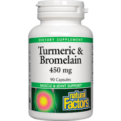 Natural Factors Turmeric amp Bromelain 450 mg 90 caps TUR23