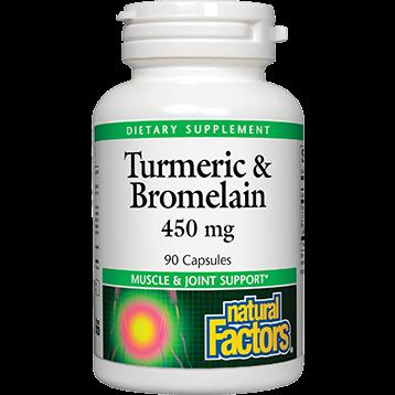 Natural Factors Turmeric amp Bromelain 450 mg 90 caps TUR23