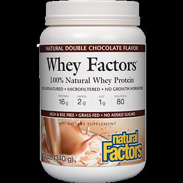 Natural Factors Whey Factors Powder Mix Chocolate 12 oz NF2927