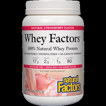 Natural Factors Whey Factors Powder Mix Strawberry 2 lbs NF2933