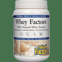 Natural Factors Whey Factors Powder Mix Vanilla 12 oz NF2926