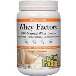 Natural Factors Whey Factors Unflavored Powder 12 oz WHEY7