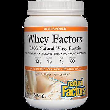 Natural Factors Whey Factors Unflavored Powder 12 oz WHEY7