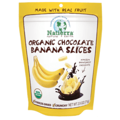 Natures All Chocolate Banana Slices Org 2.5 oz N15113