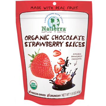 Natures All Chocolate Strawberry Slice Organic 1.5oz N15137