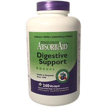 Natures Sources AbsorbAid Digestive Support 240 vegetarian capsules ABS240
