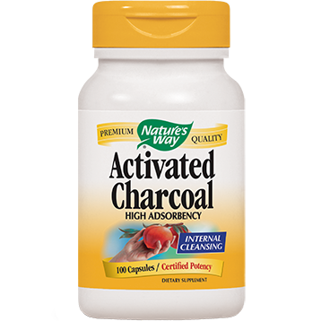 Natures Way Activated Charcoal 560 mg 100 caps ACTI8