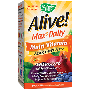 Natures Way Alive® Max3 Daily Multi Vitamin 90 tabs ALIVE