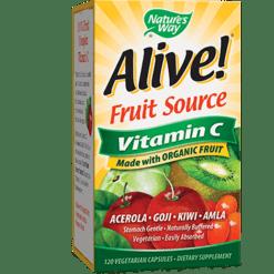Natures Way Alive® Vitamin C Organic 120 vcaps ALI21