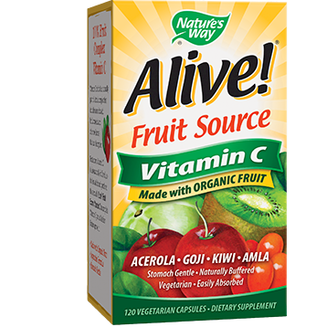 Natures Way Alive® Vitamin C Organic 120 vcaps ALI21