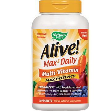 Natures Way Alive Multi Vitamin No Iron 180 tablets ALIV3
