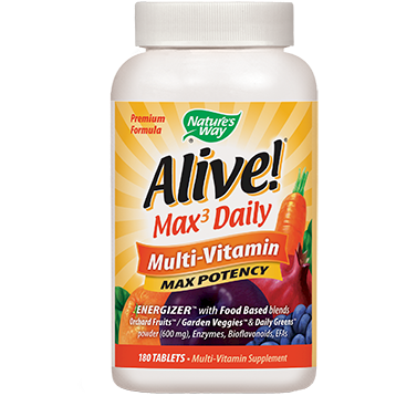 Natures Way Alive Multi Vitamin with Iron 180 tablets ALI20