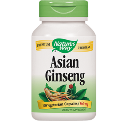 Natures Way Asian Ginseng Root 100 vegcaps KORE2
