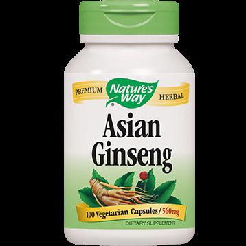 Natures Way Asian Ginseng Root 100 vegcaps KORE2