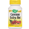 Natures Way Cayenne Extra Hot 100000 HU 100 caps CAYE9