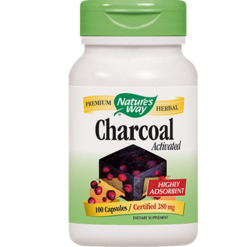 Natures Way Charcoal Activated 280 mg 100 caps CHAR2