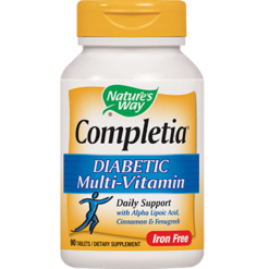 Natures Way Completia Diabetic Multivitamin 90 tabs COM21