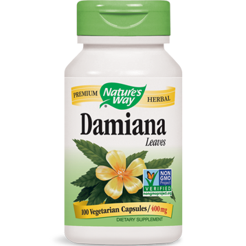 Natures Way Damiana Leaves 400 mg 100 caps DAMI3