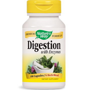 Natures Way Digestion with Enzymes 100 caps DIGE6