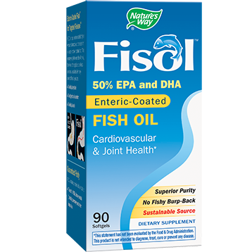 Natures Way Fisol Enteric Coated Fish Oil 90 gels FISO2
