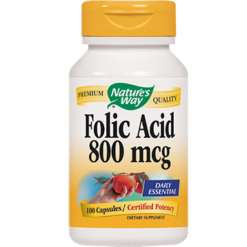 Natures Way Folic Acid 800 mcg 100 capsules FOL15