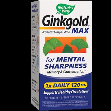 Natures Way Ginkgold MAX 120 mg 60 tablets GIN97