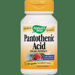 Natures Way Pantothenic Acid 250 mg 100 caps PANT4