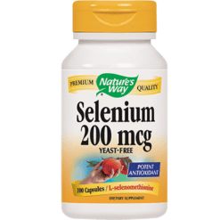 Natures Way Selenium 200 mcg 100 capsules SELE3